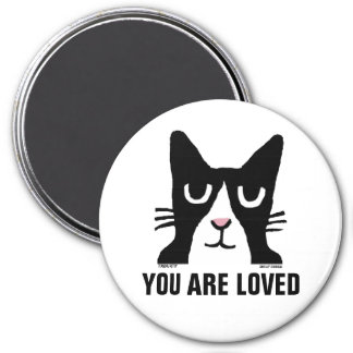 PANDA KITTY Cat Magnets, You are Loved, Tuxedo Magnet