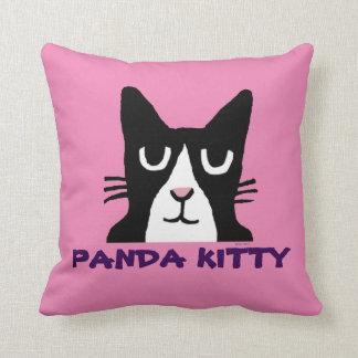PANDA KITTY, TUXEDO CAT ART PILLOWS
