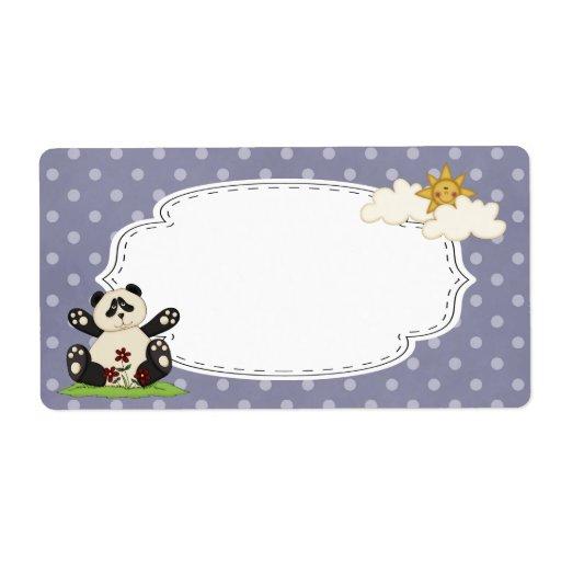 Panda Label Shipping Zazzle