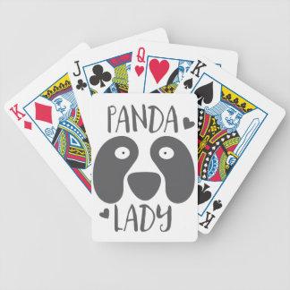 panda lady bicycle playing cards