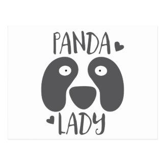 panda lady postcard