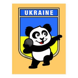 Panda lanzamiento de peso de Ucrania Tarjeta Postal