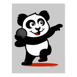 Panda lanzamiento de peso tarjeta postal