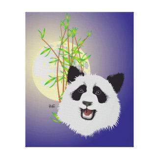 Panda lienzo de cuña (Ailuropoda melanoleuca) Lona Envuelta Para Galerias