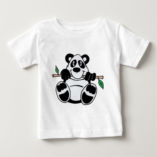 Panda linda camisetas