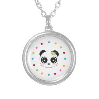 Panda linda, círculo del lunar colgantes personalizados
