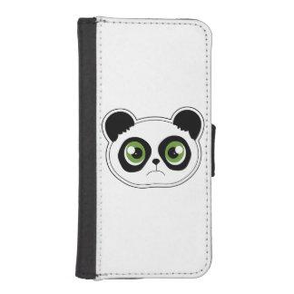 Panda linda con actitud - panda triste fundas cartera para teléfono