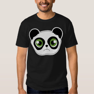 Panda linda con actitud - panda triste playeras
