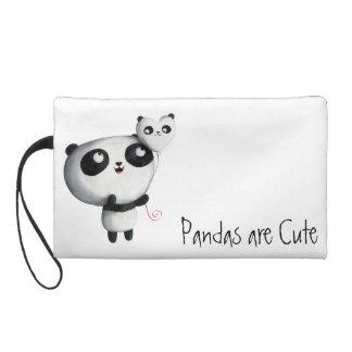 Panda linda con el globo