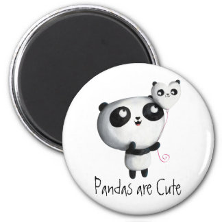 Panda linda con el globo imanes
