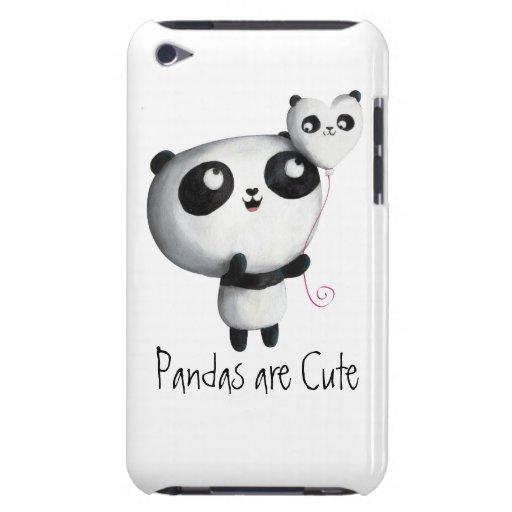 Panda linda con el globo iPod touch cárcasa