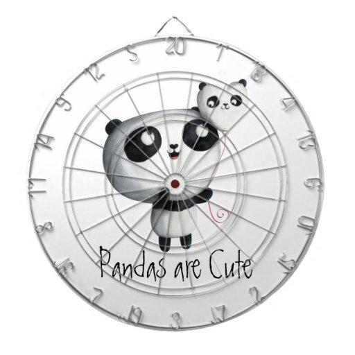 Panda linda con el globo tabla dardos