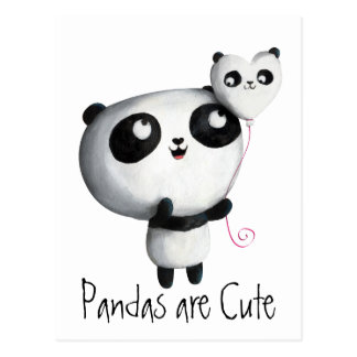 Panda linda con el globo postal