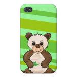 Panda linda de Kawaii iPhone 4 Carcasa