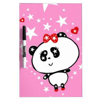 Panda linda de la moda de las pandas de Harajuku Pizarras