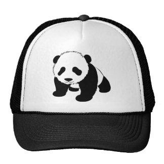 Panda linda del bebé gorras