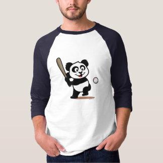Panda linda del béisbol remera