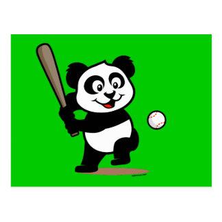 Panda linda del béisbol tarjeta postal