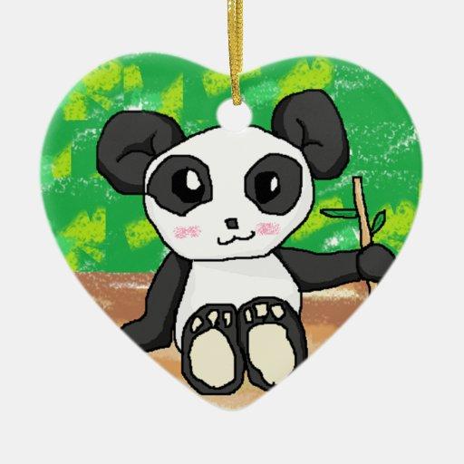 panda linda del dibujo animado adorno para reyes