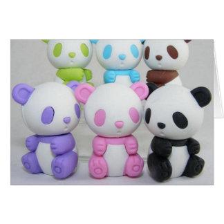 Panda linda del dibujo animado del animado tarjeta de felicitación