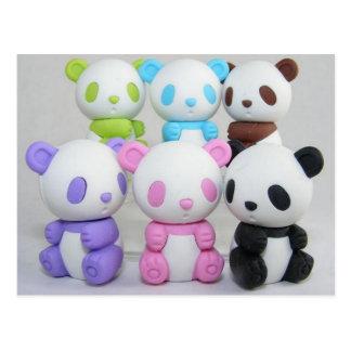Panda linda del dibujo animado del animado tarjeta postal