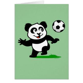 Panda linda del fútbol tarjeta de felicitación