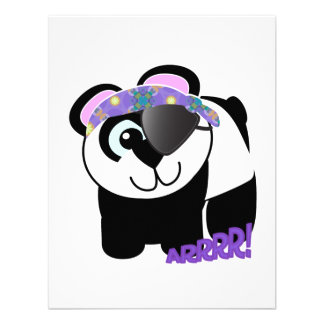 Panda linda del pirata de Goofkins Anuncio Personalizado