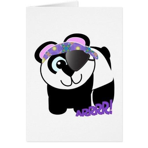 Panda linda del pirata de Goofkins Tarjeta De Felicitación