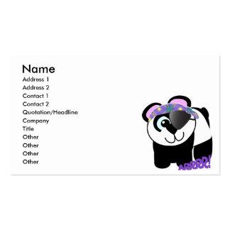 Panda linda del pirata de Goofkins Tarjetas De Visita