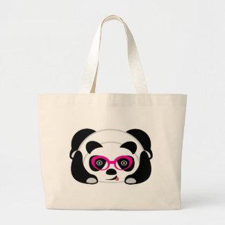 Panda linda del tote enorme del bolso bolsa tela grande