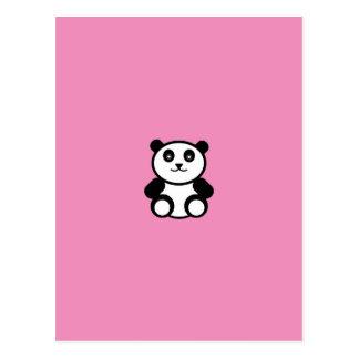 Panda linda en rosa en colores pastel tarjetas postales