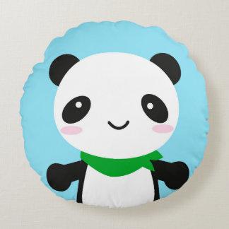 Panda linda estupenda de Kawaii Cojín Redondo