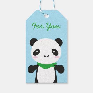 Panda linda estupenda de Kawaii Etiquetas Para Regalos