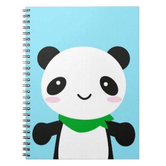 Panda linda estupenda de Kawaii Libreta Espiral