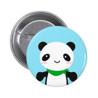 Panda linda estupenda de Kawaii Pin Redondo De 2 Pulgadas