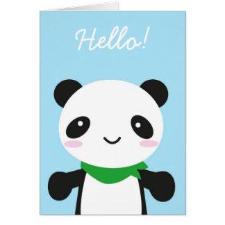 Panda linda estupenda de Kawaii Tarjeta De Felicitación