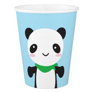 Panda linda estupenda de Kawaii Vaso De Papel