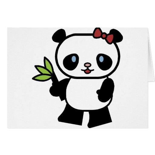 Panda linda felicitación