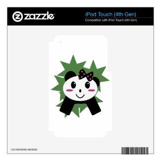 Panda linda iPod touch 4G calcomanía