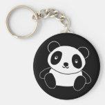 Panda linda llavero redondo tipo pin