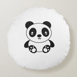 Panda linda cojín redondo