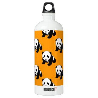 Panda linda; Naranja de neón, negro y blanco