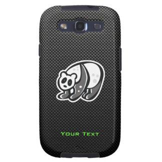 Panda linda; Negro Samsung Galaxy S3 Carcasas