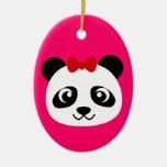 Panda linda ornaments para arbol de navidad