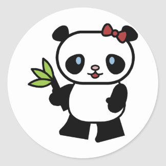 Panda linda pegatina redonda