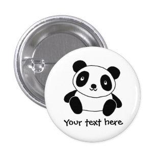 Panda linda pin redondo de 1 pulgada