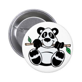 Panda linda pin redondo de 2 pulgadas