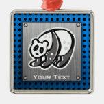 Panda linda; Plata Adorno De Reyes