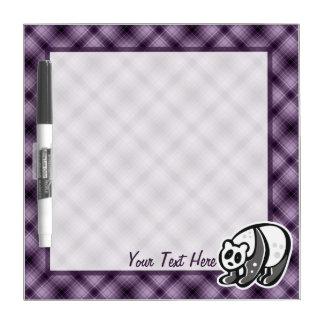Panda linda; Púrpura Pizarra Blanca