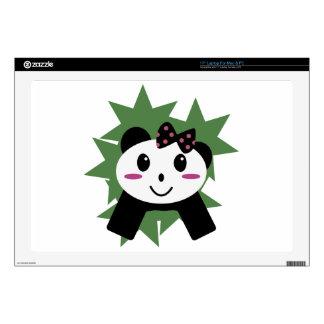 Panda linda skins para 43,2cm portátiles
